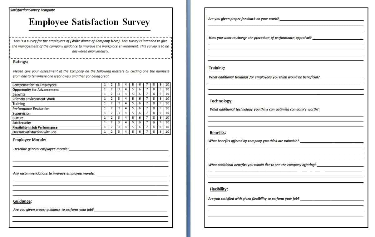 template for survey questionnaire