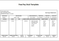 Contractor pay stub template