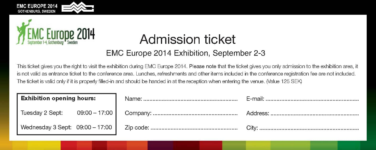 4 free admission ticket templates - word - excel