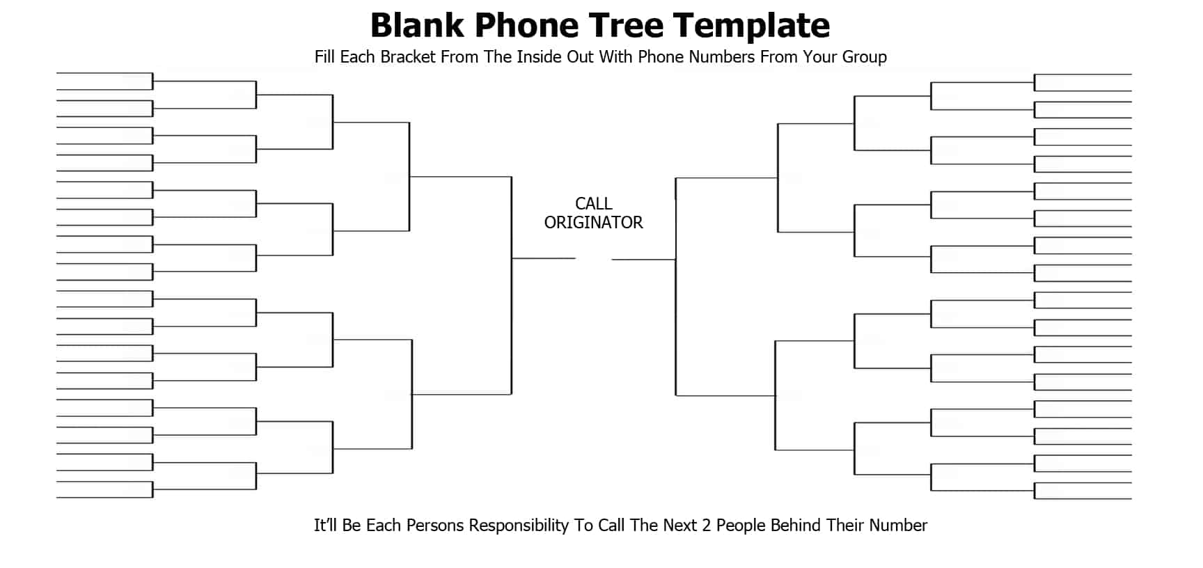 5 free phone tree templates word excel pdf formats for Bcp call tree template