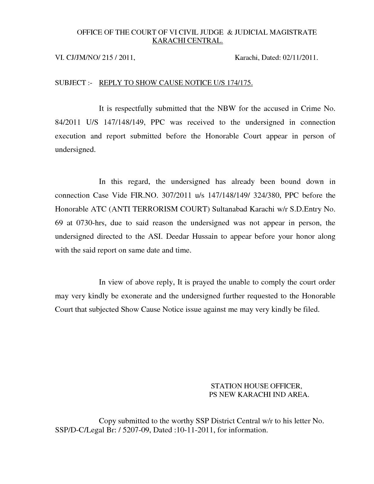 show cause letter format Charge-sheet/show cause notice a charge-sheet is a document which sets out the allegations of misconduct, misbehavior, indiscipline, lack of interest, negligence etc on the part of the employee which he should not have committed in contravention of existing rules of the organization.