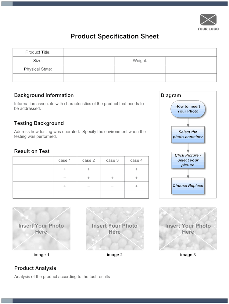 specification sheet template free sheet templates