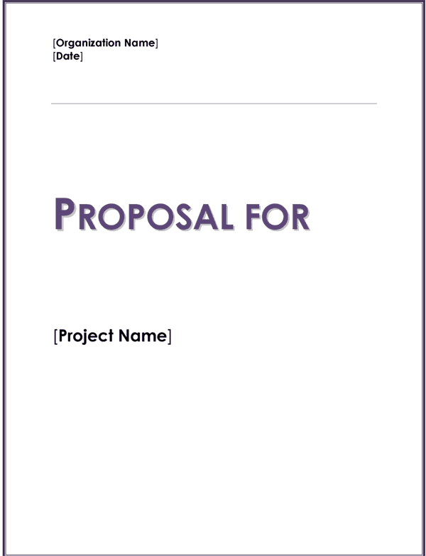 Fundraising proposal template for Charity