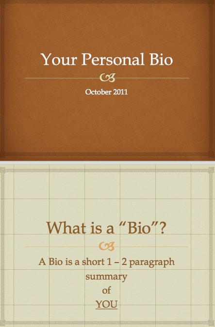 biography template - word - excel