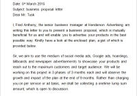 business proposal letter sample