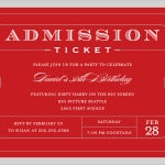 4 Free Admission ticket templates