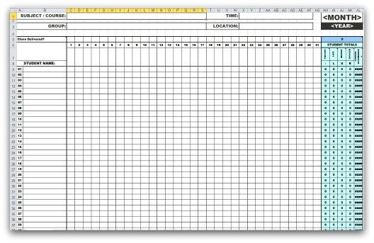 4 free attendance sheet template - word - excel