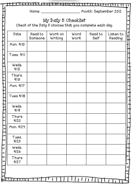daily checklist template 11