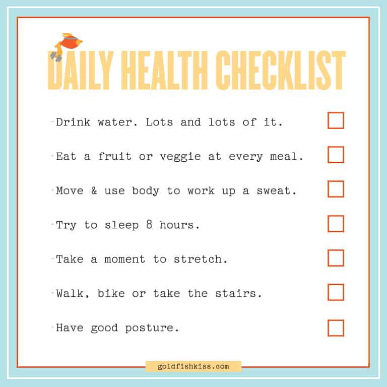 daily checklist template 33