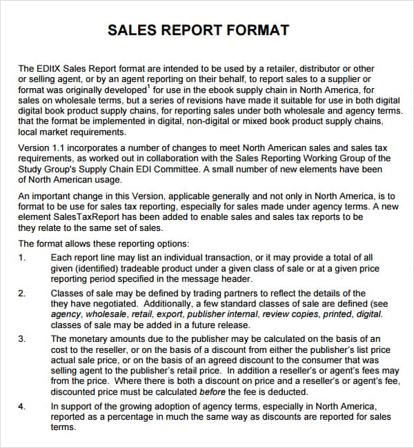 daily sales report template 2