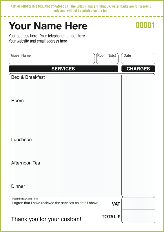 4 Free Hotel Receipt Templates - Word - Excel - PDF Formats