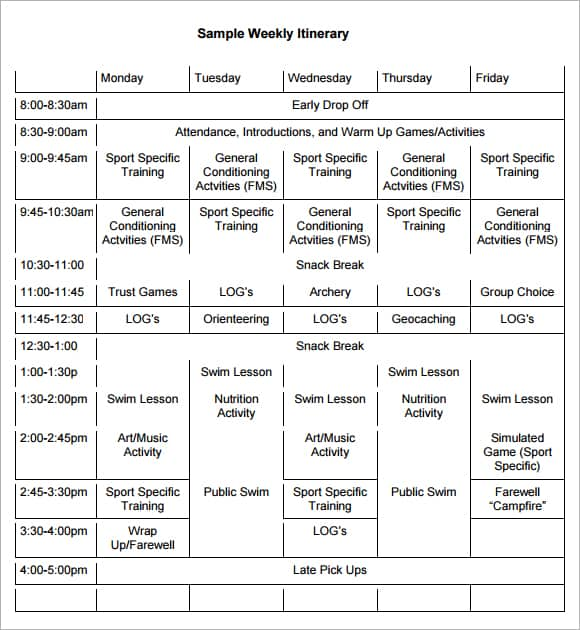 itinerary template image 22