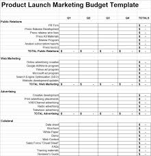 launch budget template 11