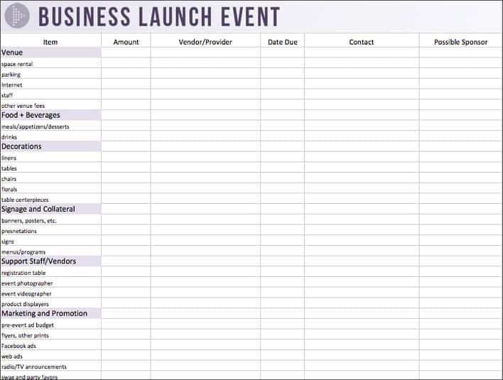 launch budget template 22