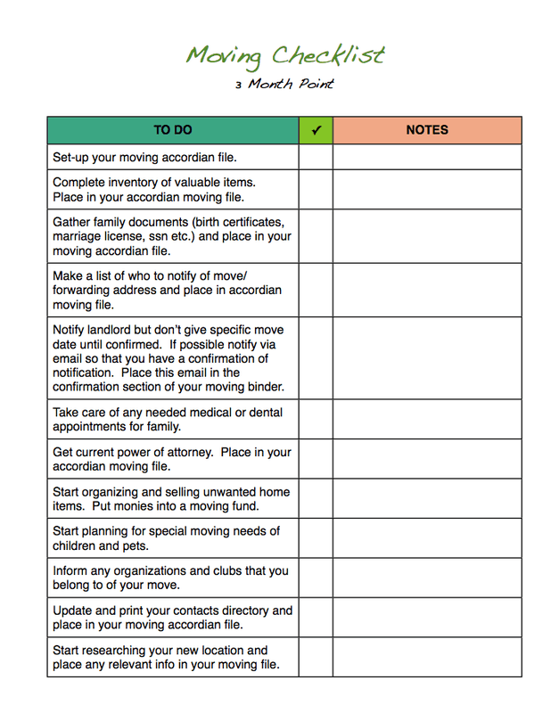 moving checklist template 22