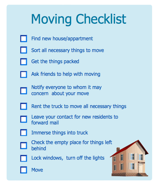 moving checklist template 33