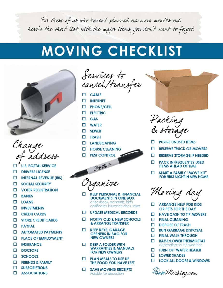 moving checklist template 44