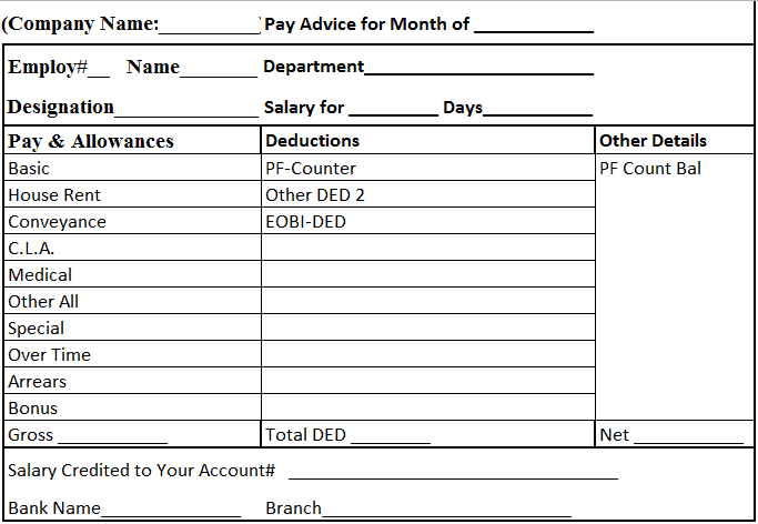 salary sheet template 5