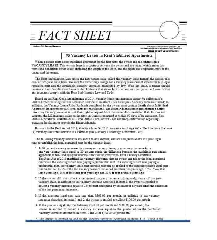 11 fact sheet templates word excel pdf formats
